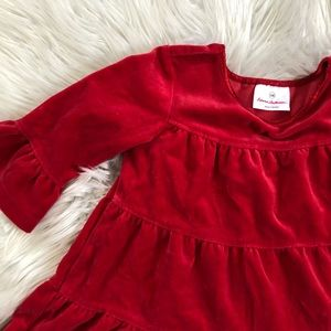 Hanna Andersson Dress Size 100 -Size 4 Red Velvet
